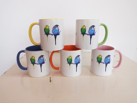 Looking for a Budgie Gift? Check Out Jenny K Home Budgie Mugs