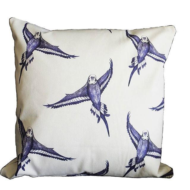 Take a look at the latest Jenny K Home ‪#‎bird‬ ‪#‎budgie‬ ‪#‎cushion‬ cover design