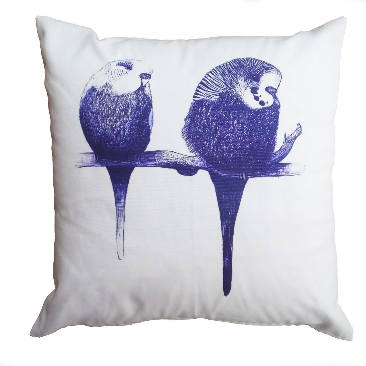 Budgie bird cushion cover on Etsy