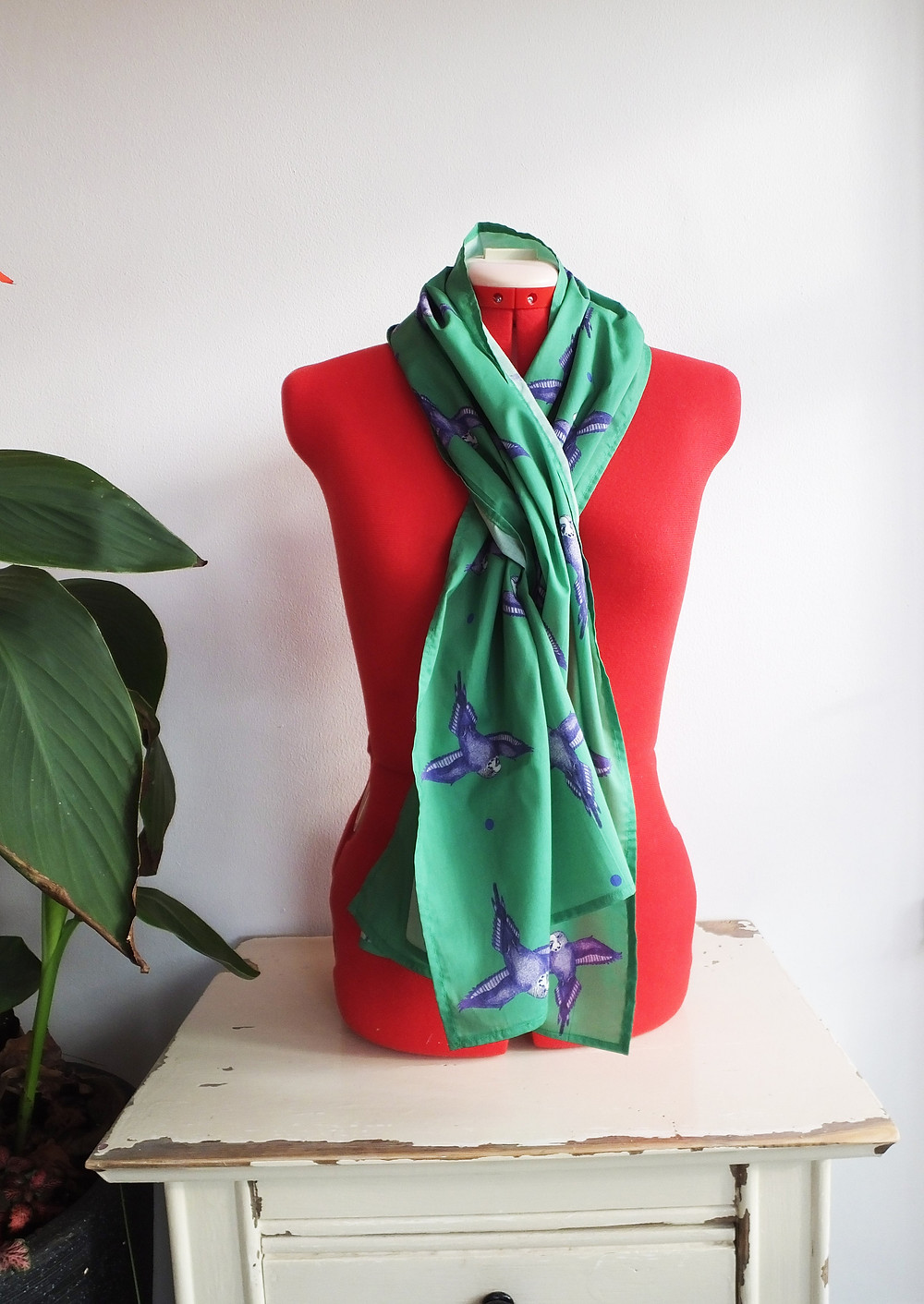 Jenny K Home Meadow Green Budgie Scarf