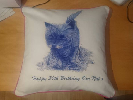 Personalised Pet Dog Cushion with 5 Star Customer Review