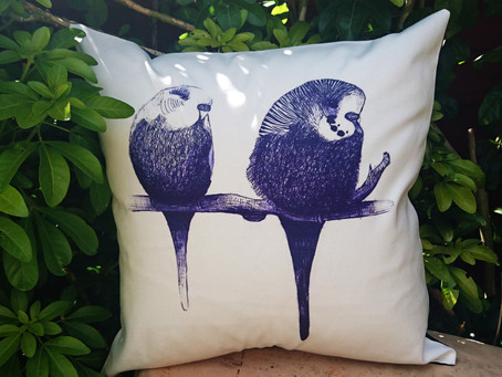 'We're too cute' Budgie Cushion Cover - Buy on eBay for £9.99