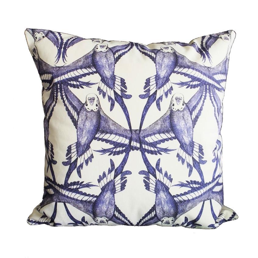 budgie-bird-cushion-throw-pillow-feather-symmetry-pattern-blue-white-cotton