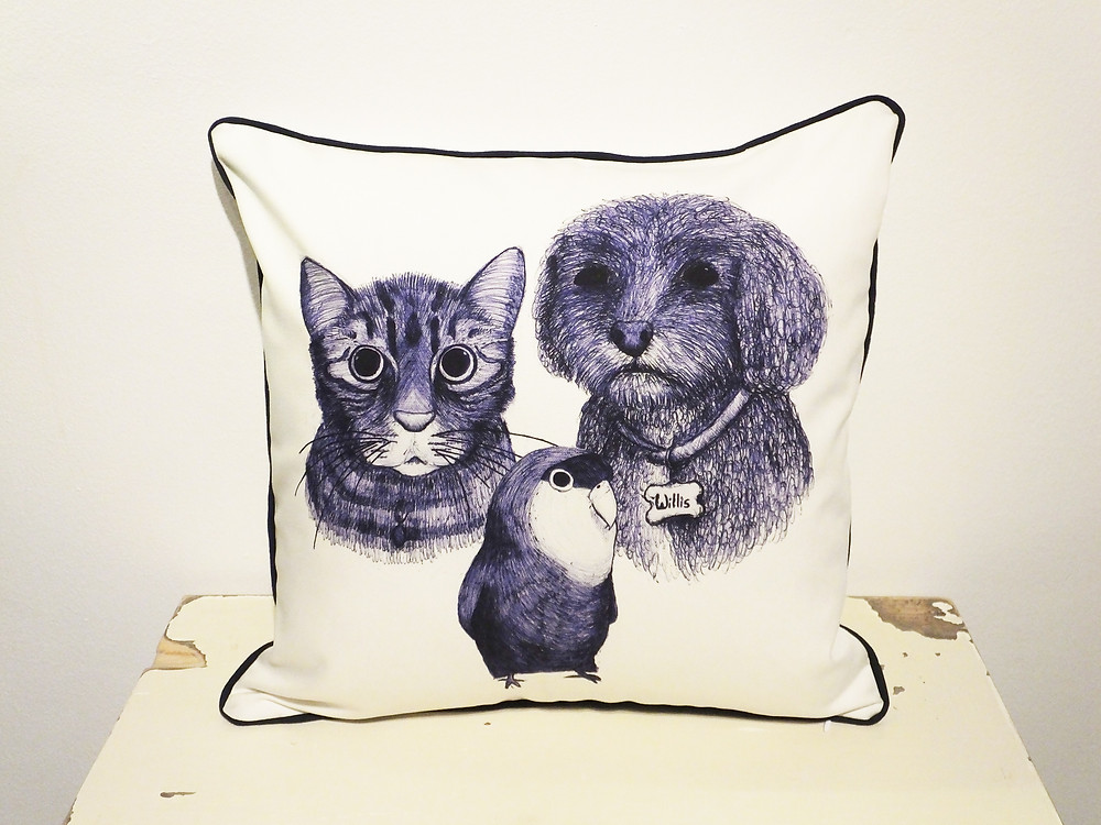 Bespoke pet cushion with 5 star review