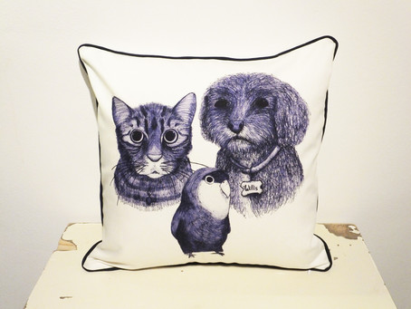 5 Star Review for Jenny K Home Handmade Bespoke Pet Cushion