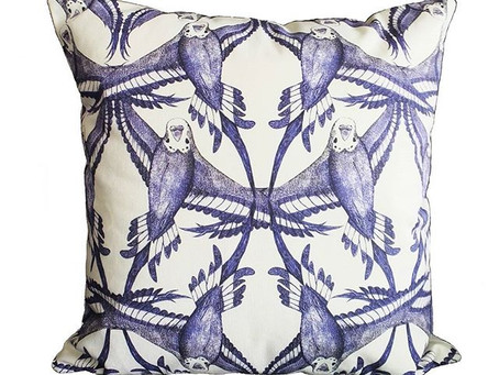 5 Star Reviews for Jenny K Home Budgie Cushions on Etsy