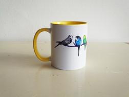 Yellow Parakeets Budgies Mug