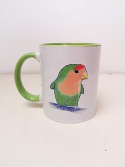 Green Lovebird Mug