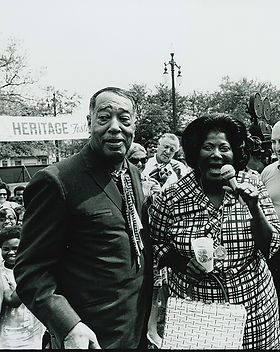 Duke Ellington and Mahalia Jackson