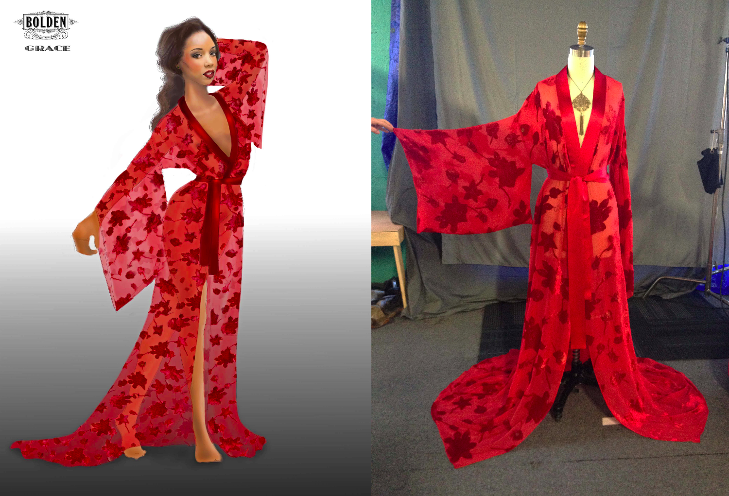 """""""Grace"""" Red Robe"""