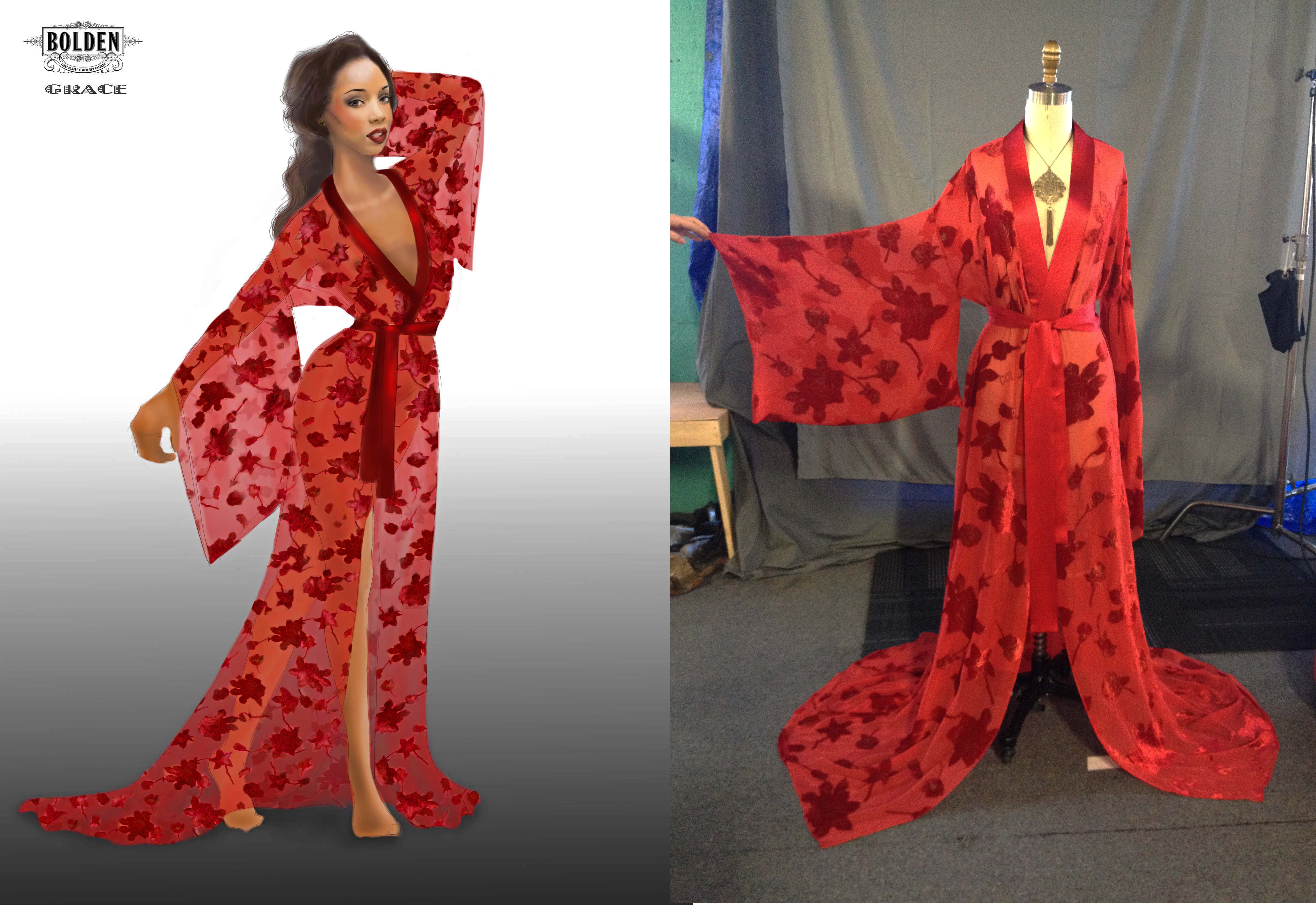 """Grace"" Red Robe"