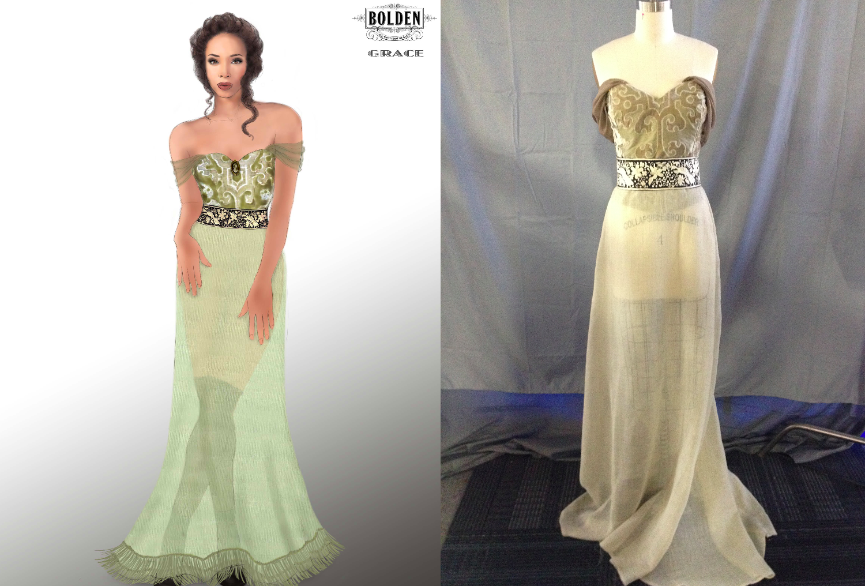 """Grace"" Green Dress"