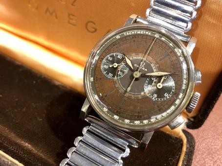 1940 Omega Chrono 28.9 CHRO cadran multicolore, les origines du calibre 321.