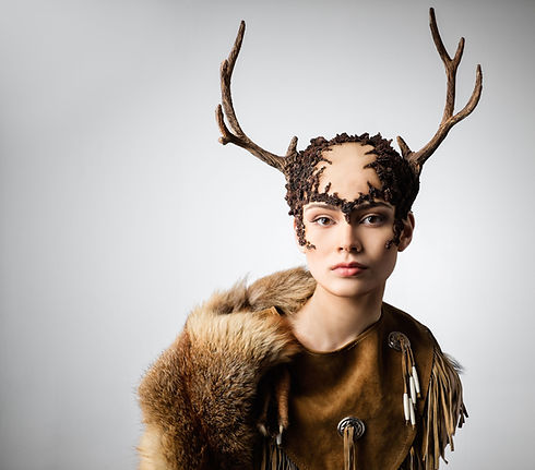 Woman with Deer Costume
