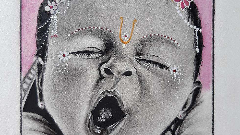 Lord Krishna Baby Drawing