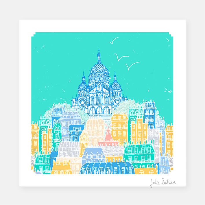 Dans les rues de Montmartre