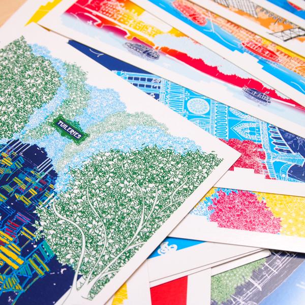 julie zeitline cartes postales paris
