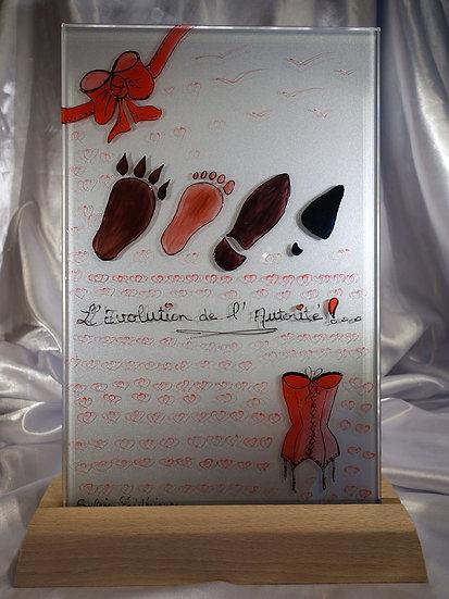 LL7 - EVOLUTION DE L'AUTORITE - Lampe peinte