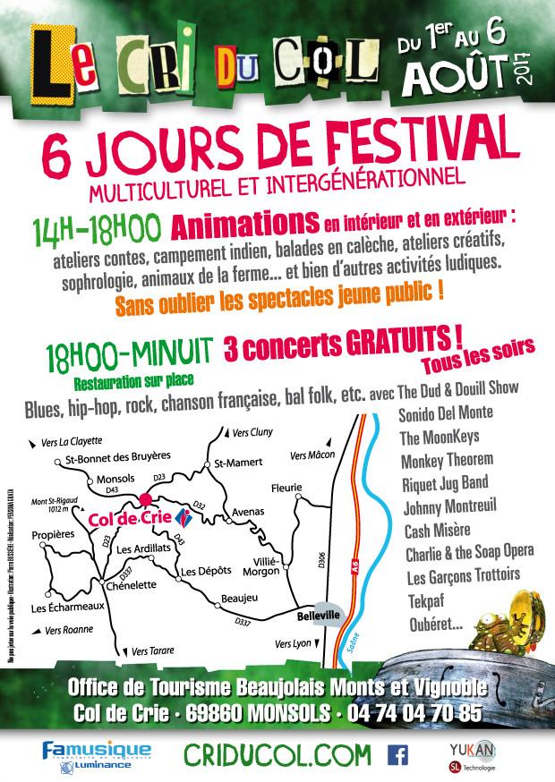 Col de crie - festival, animations du 1 au 6 aout 2017