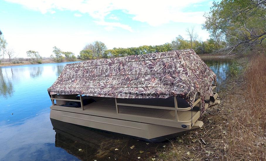 714 Duck Boat w/ Blind & 20 HP Honda Outboard