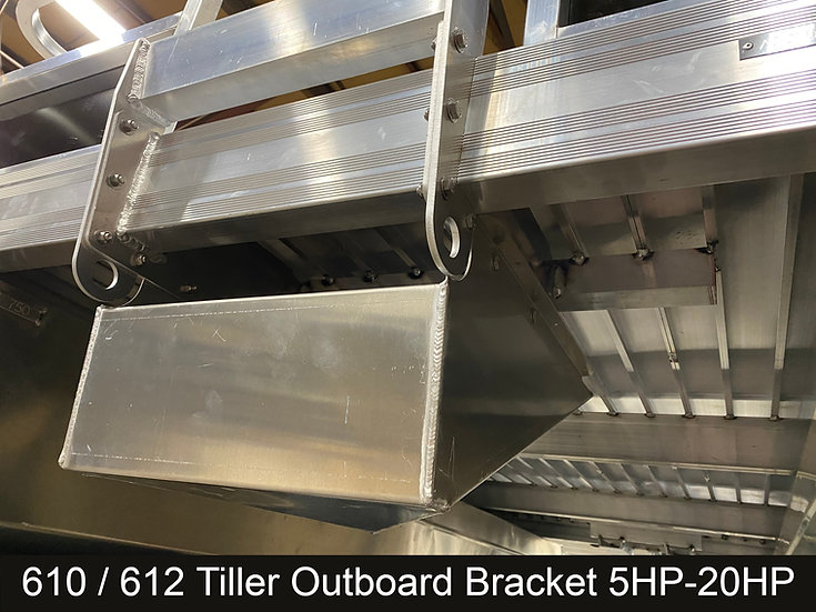 Installed Tiller Outboard Bracket 610 / 612
