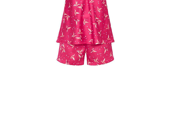 Pyjama top+short satin