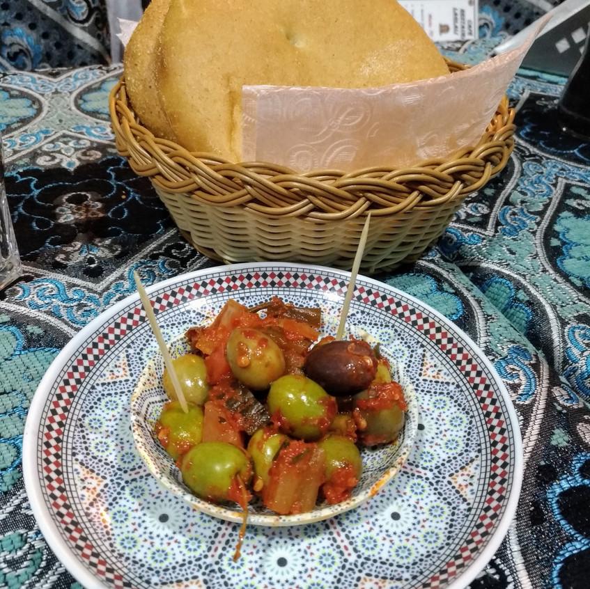 azeitonas temperadas, marrocos