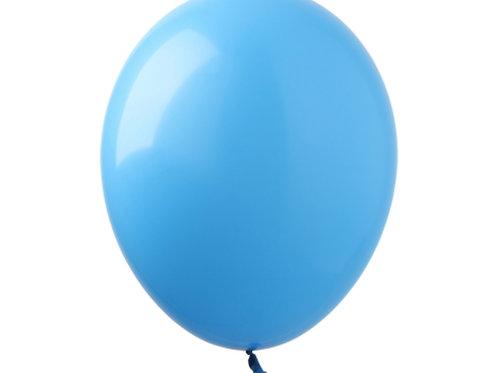"Bexiga latex pastel 9"" - azul"