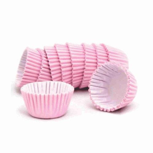 Forminha para doces nº 5 lisa - rosa 100 unidades