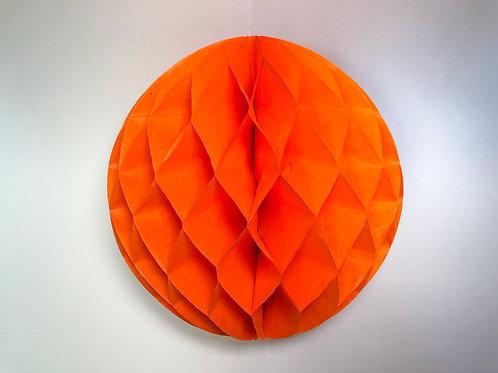 Pom pom colméia 25cm - laranja