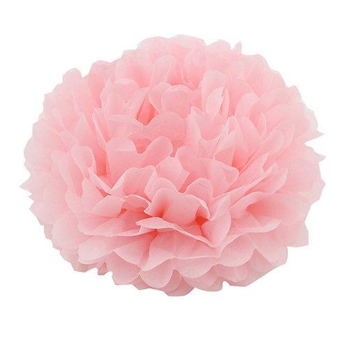 Pom pom de papel rosa bebê - 2 unidades
