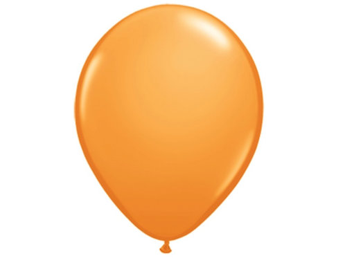 "Bexiga latex 9"" - laranja"