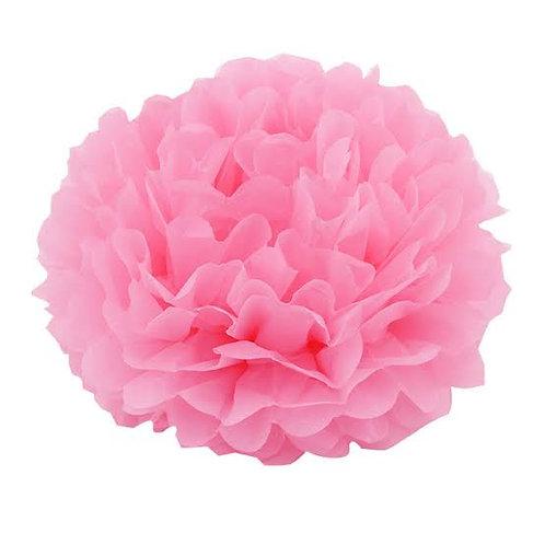 Pom pom de papel rosa - 2 unidades