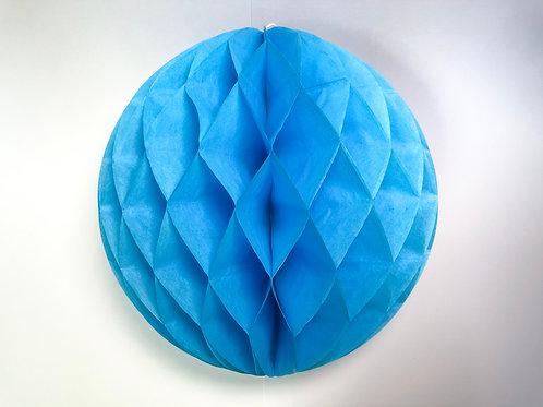 Pom pom colméia 25cm - azul