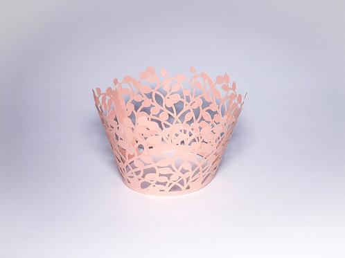 Wrapper para cupcake rosa peroládo - 12 unidades