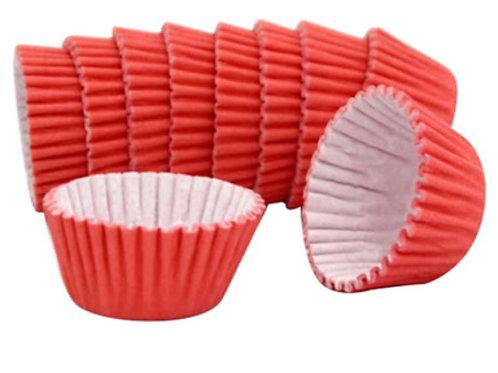Forminha para doces nº 4 lisa - vermelho 100 unidades