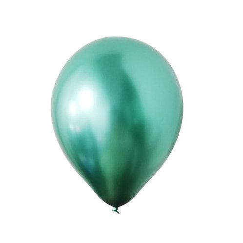 "11"" Bexiga latex metálico - verde"