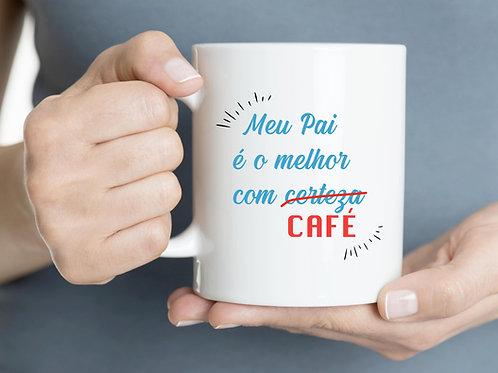 Caneca o melhor pai com café