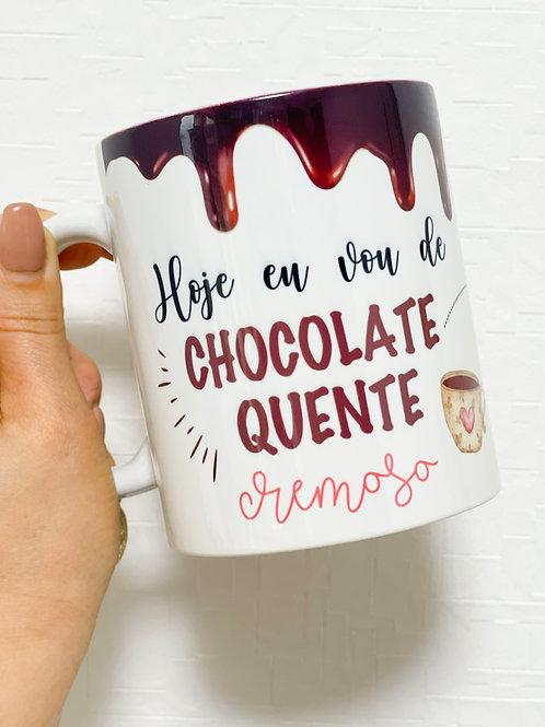 Caneca receita de chocolate quente