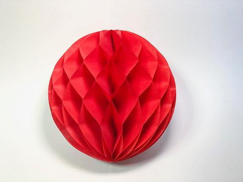 Pom pom colméia 25cm - vermelho
