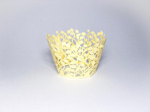 Wrapper para cupcake dourado - 12 unidades
