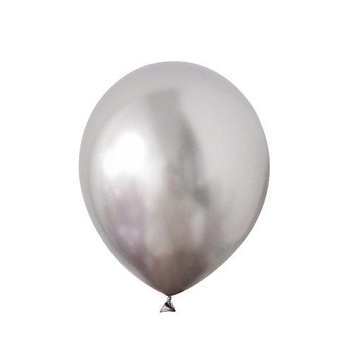 "11"" Bexiga latex metálico - prata"