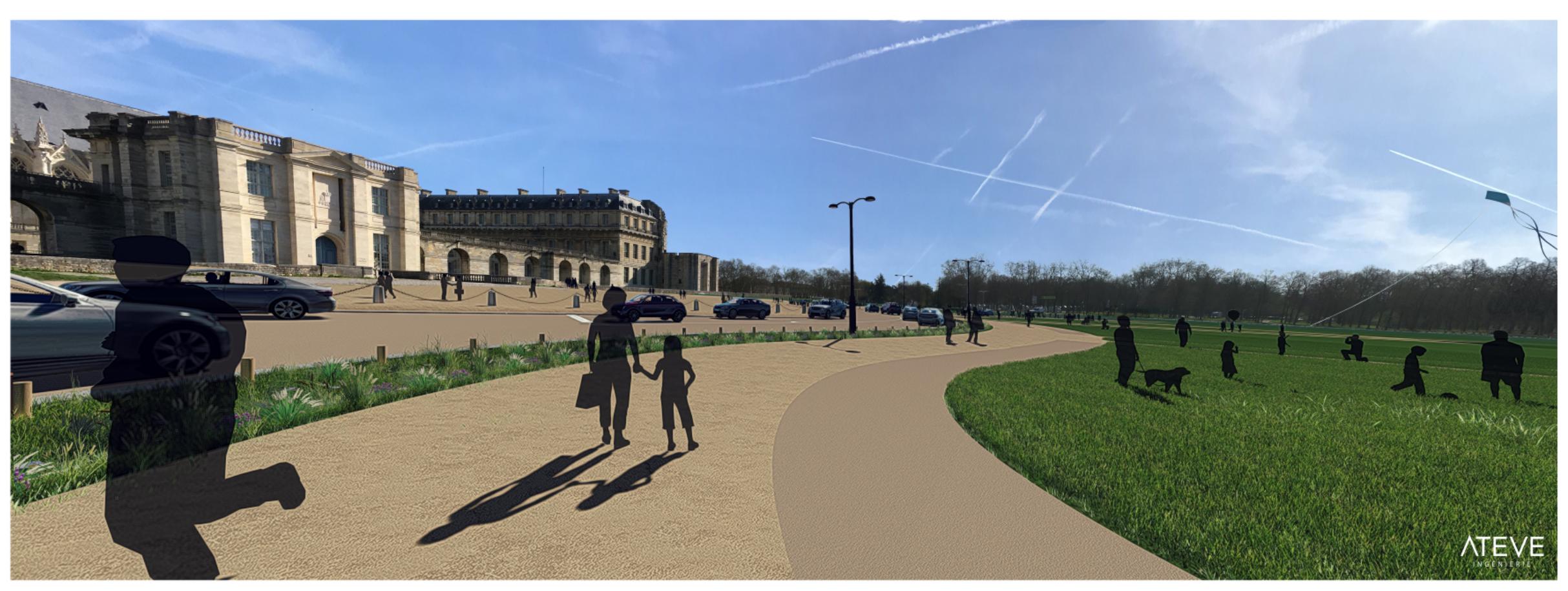 esplanade Saint Louis à Vincennes