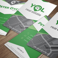 YQL Real Estate - Business Card - Mockup
