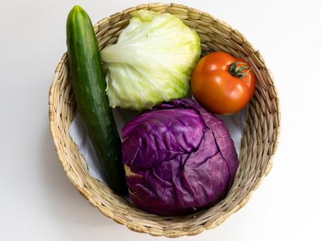 Consumo de hortaliças e frutas cruas durante o tratamento