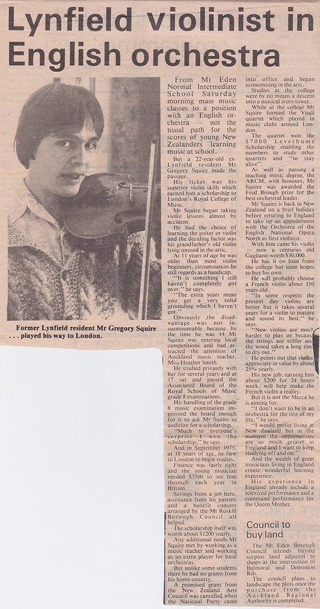 Violinist Gregory Squire Lynfield Royal College London