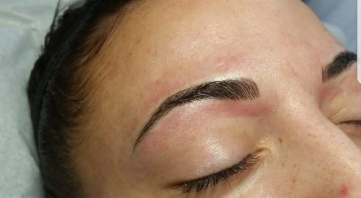 After Microblading @La'Roc Beauty