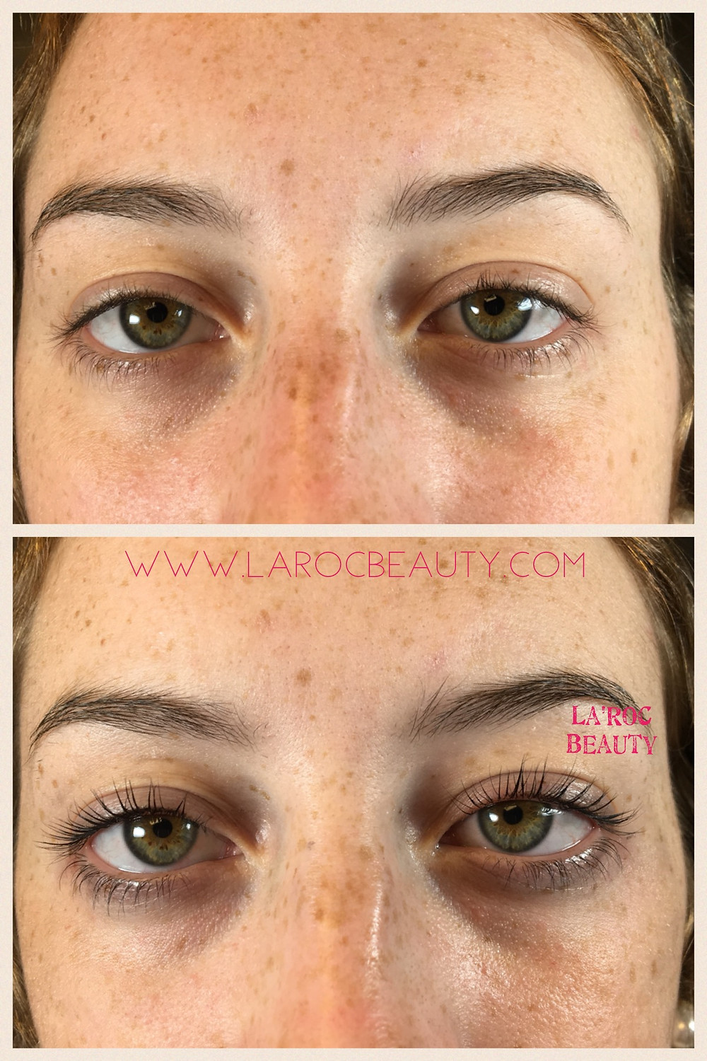 lashlift and tint before and after