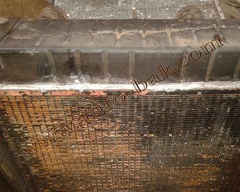 Пайка радиатора спец техники (комбайн марки Ягуар)