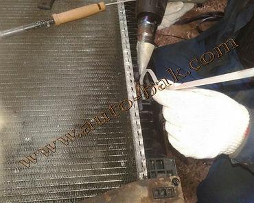 Сварка пластикового бачка радиатора